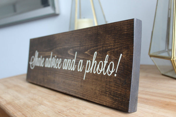 Photo Booth Rustic Wedding Sign, Bride and Groom, Wedding Decor
