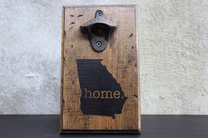 Georgia Home Wall Mounted Bottle Opener (Large)