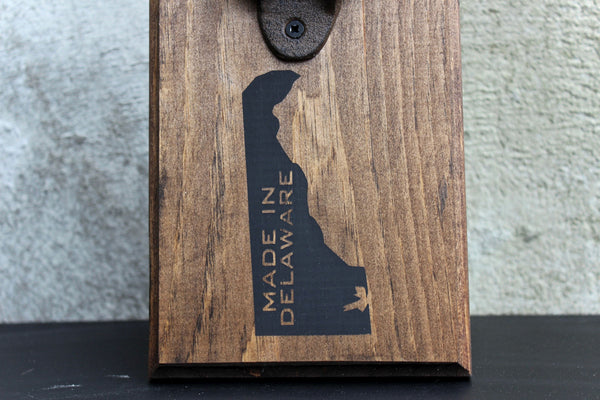 Made in Delaware Wall Mounted Bottle Opener
