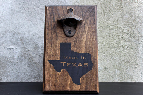 Made in Texas Wall Mounted Bottle Opener