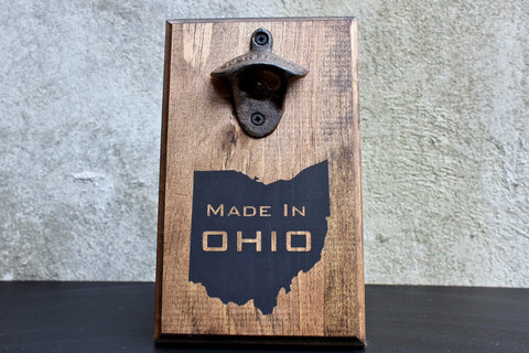 Made in Ohio Wall Mounted Bottle Opener
