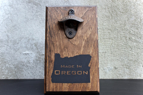 Made in Oregon Wall Mounted Bottle Opener