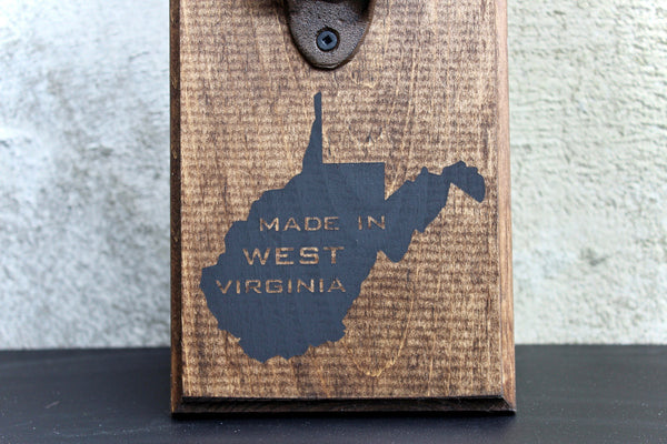 Made in West Virginia Wall Mounted Bottle Opener