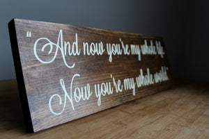 Rustic Wedding Sign, Bride and Groom, Wedding Decor, Photo Booth Prop