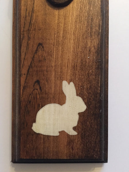 Rustic Rabbit, Rustic  Bunny Wall Mount Rustic Bottle Opener, Matte White