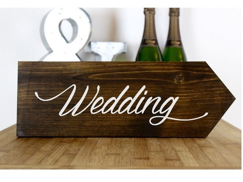 Wedding Rustic Wedding Sign, Wedding Ceremony This Way, Ceremony Direction Sign, Rustic Wedding Decor