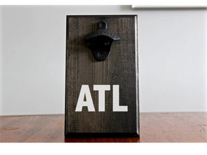 Airport Code Wall Mounted Bottle Opener - Atlanta ATL or Custom