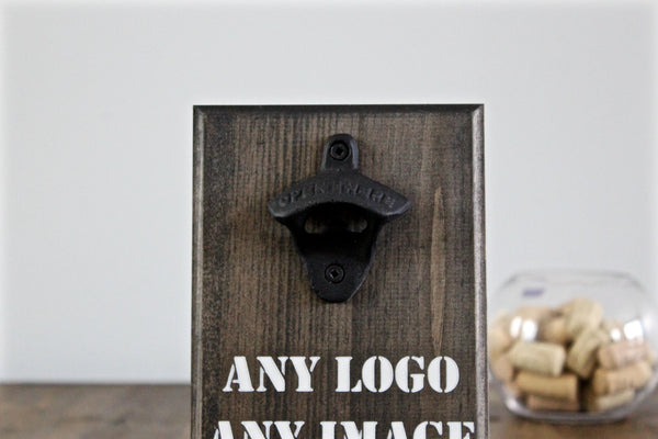 Dad's Man Cave Wall Mounted Bottle Opener