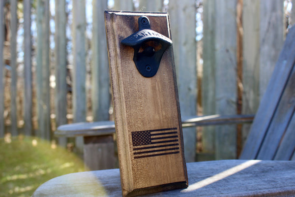 American Flag Wall Mounted Bottle Opener