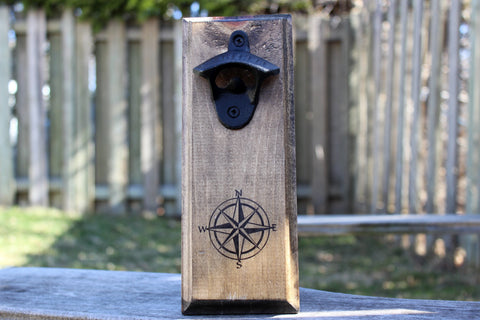 Nautical Compass Wall Mounted Bottle Opener