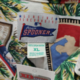 Vintage LOS ANGELES DODGERS MLB Reyn Spooner Rayon Hawaiian Shirt XL
