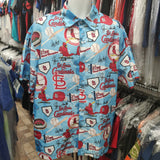 Vintage ST. LOUIS CARDINALS MLB Polyester Hawaiian Shirt XL