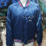 Vtg 80s BUFFALO BILLS NFL Back Embroidery Chalk Line Nylon Jacket XL