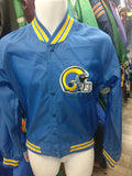 Vtg 80s LOS ANGELES RAMS NFL Chalk Line Windbreaker Jacket S Deadstock