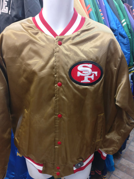 Vintage 80s SAN FRANCISCO 49ers NFL Locker Line Nylon Jacket XL
