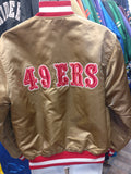 Vintage 90s SAN FRANCISCO 49ers NFL Back Patch Starter Jacket L