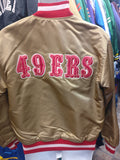 Vintage 90s SAN FRANCISCO 49ers NFL Back Patch Starter Nylon Jacket M