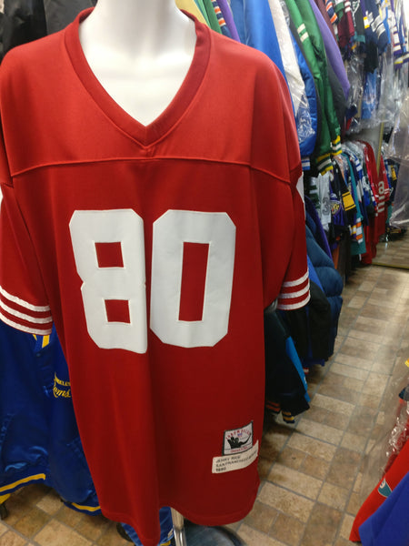 new styles c0c84 b5063 Vintage '90 #80 JERRY RICE S F 49ers NFL Mitchell & Ness Jersey 56