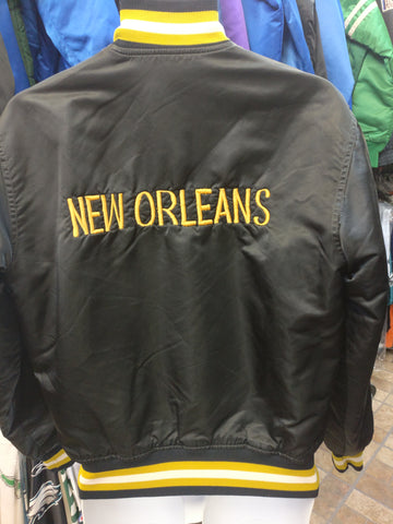 Vtg 80s NEW ORLEANS SAINTS NFL Back Embroidery Starter Nylon Jacket M