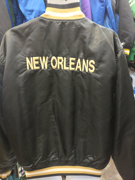 Vtg 90s NEW ORLEANS SAINTS NFL Back Embroidery Starter Nylon Jacket XL