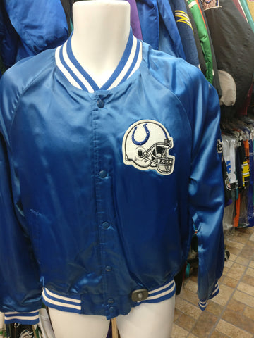 Vintage 80s INDIANAPOLIS COLTS NFL Chalk Line Nylon Jacket M