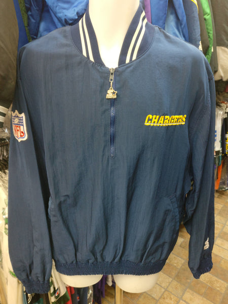 601d72a710be17 Vtg 90s SAN DIEGO CHARGERS NFL Starter Windbreaker Pullover Jacket ...