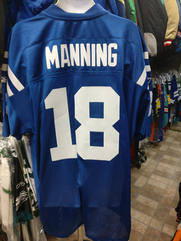 Vtg #18 PEYTON MANNING Indianapolis Colts Reebok Authentic Jersey 56