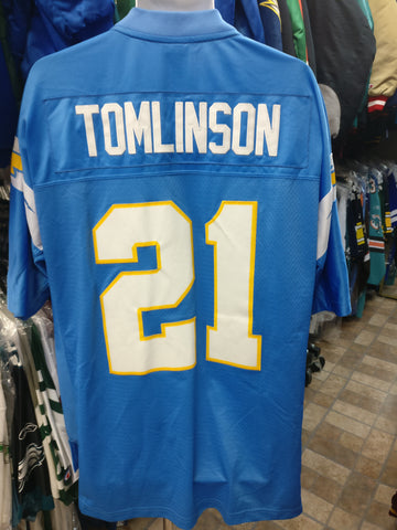 Vtg #21 LADAINIAN TOMLINSON San Diego Chargers NFL Reebok Jersey XL