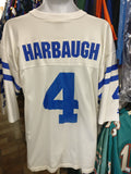 Vintage #4 JIM HARBAUGH Indianapolis Colts NFL Starter Jersey 48 (L)