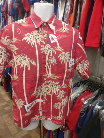 Vintage ANAHEIM ANGELS MLB Reyn Spooner Cotton Hawaiian Shirt M
