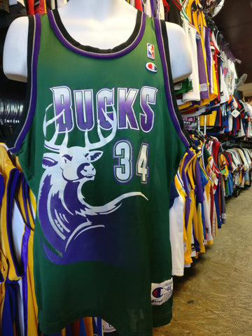 Vintage #34 RAY ALLEN Milwaukee Bucks NBA Champion Jersey 44 - #XL3VintageClothing