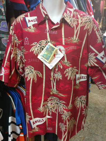Vintage ANAHEIM ANGELS MLB Reyn Spooner Hawaiian Shirt XL (Deadstock) - #XL3VintageClothing