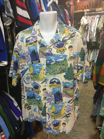 Vintage COLORADO ROCKIES Reyn Spooner MLB Hawaiian Shirt XXL - #XL3VintageClothing