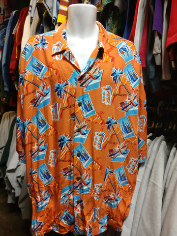 Vintage SUPER BOWL XLI 02.04.07 NFL Hawaiian Shirt XXL - #XL3VintageClothing