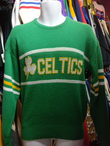 Vintage 80s BOSTON CELTICS Cliff Engle NBA Sweater M - #XL3VintageClothing