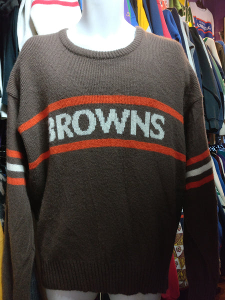 premium selection 17040 141ef Vintage 80s CLEVELAND BROWNS Cliff Engle NFL Sweater XL