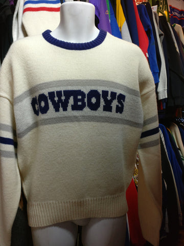 Vintage 80s DALLAS COWBOYS Cliff Engle NFL Sweater M - #XL3VintageClothing