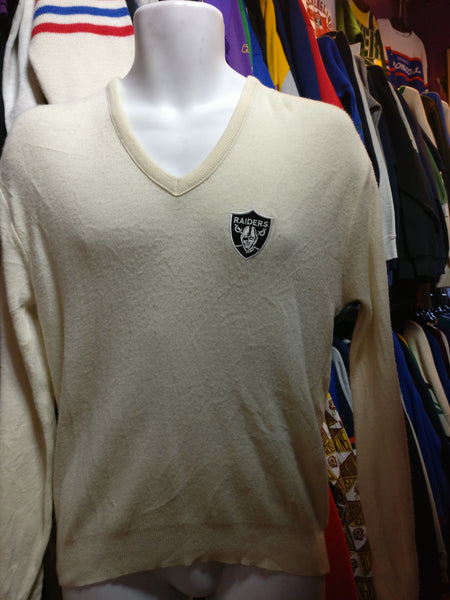 Vintage 80s LOS ANGELES RAIDERS NFL Sweater M - #XL3VintageClothing