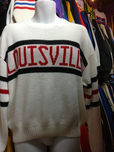 Vintage 80s LOUISVILLE CARDINALS NCAA Sweater XL - #XL3VintageClothing