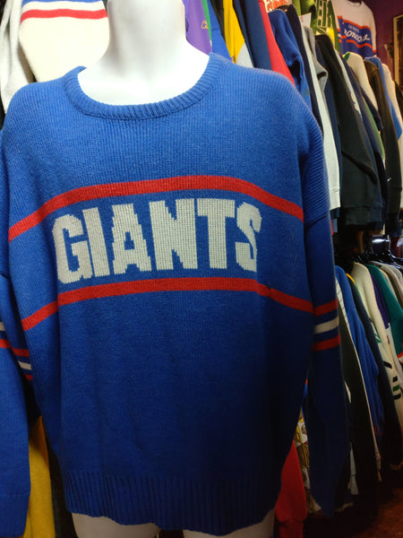new arrivals dc0b9 f82a9 Vintage 80s NEW YORK GIANTS Cliff Engle NFL Sweater XXL
