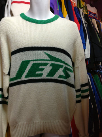 Vintage 80s NEW YORK JETS Cliff Engle NFL Sweater XL - #XL3VintageClothing