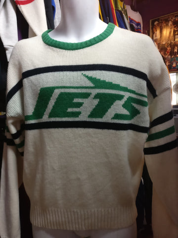 Vintage 80s NEW YORK JETS Cliff Engle NFL Sweater XS - #XL3VintageClothing