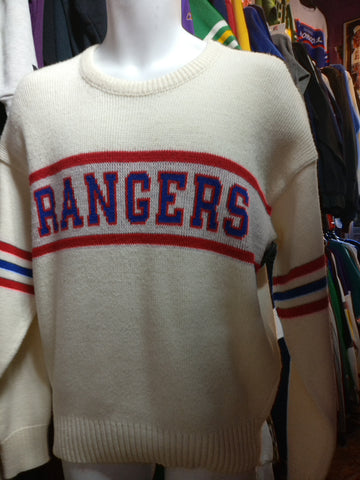 Vintage 80s NEW YORK RANGERS NHL Cliff Engle Sweater S - #XL3VintageClothing