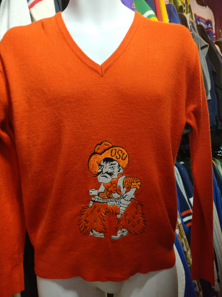 Vintage 80s OKLAHOMA STATE UNIVERSITY COWBOYS NCAA Sweater S - #XL3VintageClothing