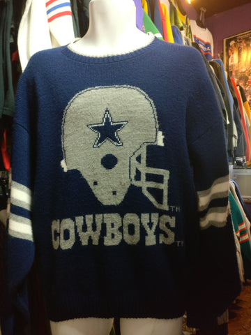 Vintage 90s DALLAS COWBOYS NFL Barrel Sweater L - #XL3VintageClothing