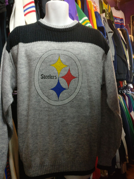 Vintage 90s PITTSBURGH STEELERS NFL Square Sweater L - #XL3VintageClothing
