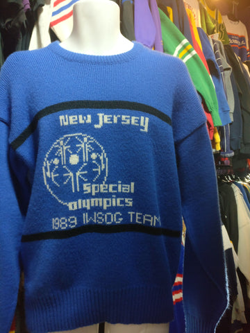 Vtg '89 NEW JERSEY Special Olympics IWSOG Team Cliff Engle Sweater S - #XL3VintageClothing