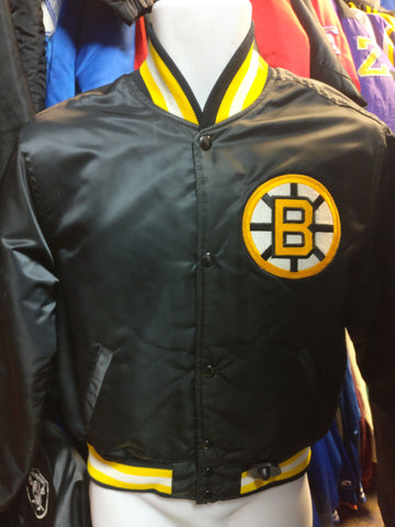 Vintage 80s BOSTON BRUINS NHL Starter Nylon Jacket YL - #XL3VintageClothing