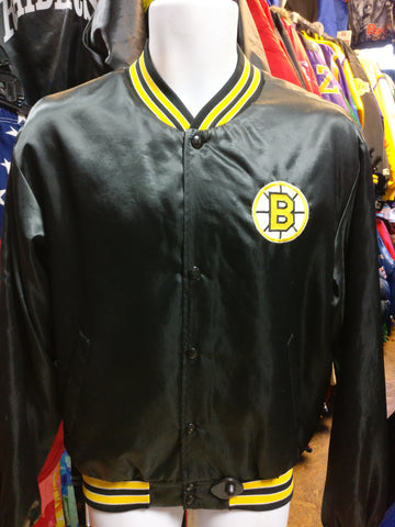 Vintage 80s BOSTON BRUINS NHL Swingster Nylon Jacket M - #XL3VintageClothing