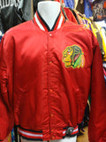 Vintage 80s CHICAGO BLACKHAWKS NHL Starter Nylon Jacket L - #XL3VintageClothing